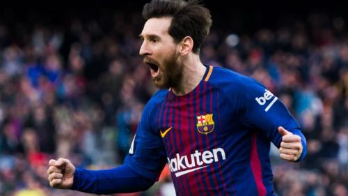 Messi tiếp tục đóng vai trò đầu tàu của Barca dù phải thay đổi vị trí. Ảnh:AFP.