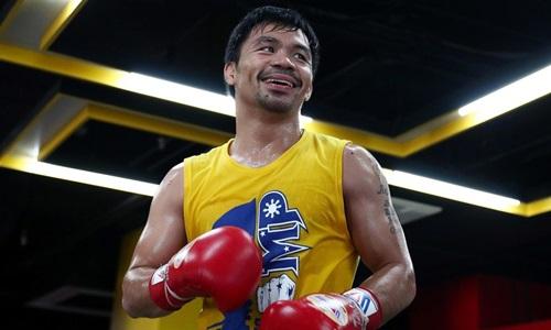 Pacquiao nghỉ thi đấu gần một năm trước lần trở lại trong hè 2018. Ảnh: Reuters.