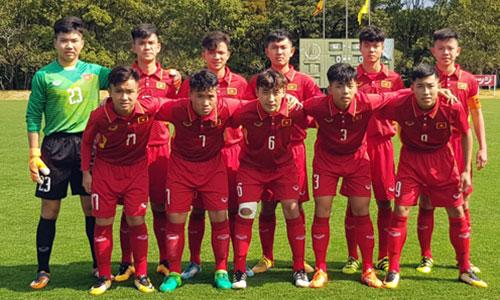 Đội hình ra quân của U16 Việt Nam. Ảnh: VFF.