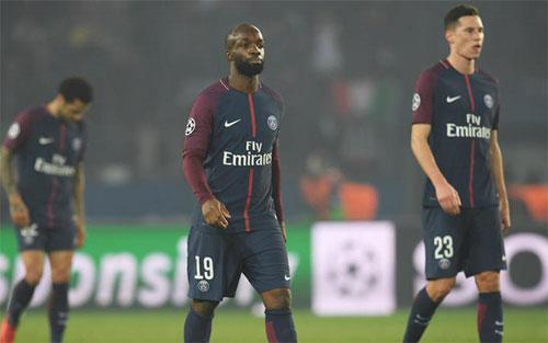 PSG thua cả hai lượt trận gặp Real Madrid. Ảnh: Reuters