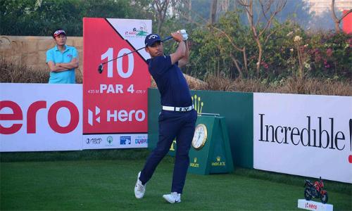 Larrazabal vẫn đánh tốt tại vòng một Indian Open dù gặp sự cố đến muộn. Ảnh: Indian Sports.