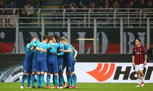 Arsenal tìm ra cách vượt vũng lầy với thắng lợi quan trọng tại San Siro. Ảnh: Reuters.