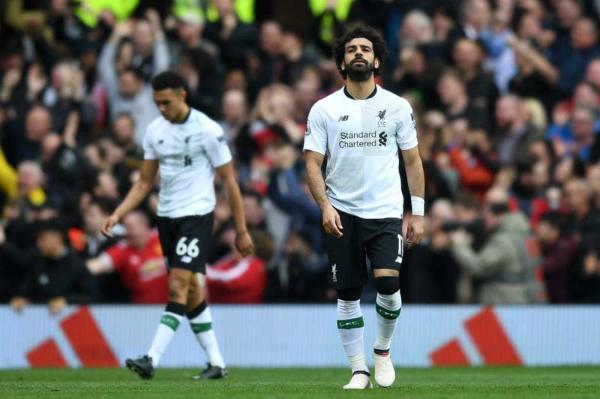 Salah không thể sút tung lưới Man Utd tại Ngoại hạng Anh mùa này. Ảnh:AFP.