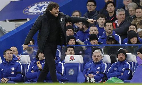 Conte ít nhiều giải toả bớt áp lực đè nặng lên ông vì những kết quả kém cỏi trước đó. Ảnh: AP.