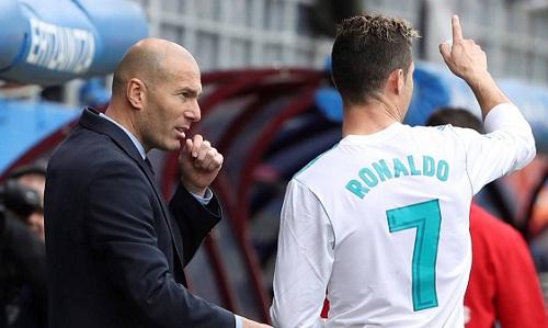 Zidane hết lời khen ngợi học trò sau hai bàn thắng vào lưới Eibar. Ảnh: EFE.