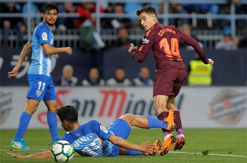 Coutinho đánh gót ghi bàn ấn định chiến thắng 2-0.