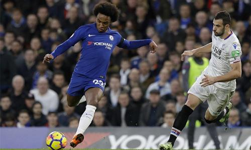 Willian đã ghi 13 bàn trên mọi mặt trận cho Chelsea mùa này - thành tích tốt nhất của anh kể từ khi gia nhập CLB. Bàn mở tỷ số trước Palace là bàn thứ 17 mà anh tham gia trực tiếp trong 18 trận gần nhất chính trên mọi đấu trường, trong đó Willian ghi 12 bàn và có năm pha kiến tạo. Ảnh: AP.