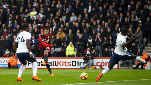 Bournemouth có lợi thế dẫn bàn sớm nhưng không thể bảo vệ tỷ số trước Tottenham tỏ ra quá mạnh. Ảnh:PA.