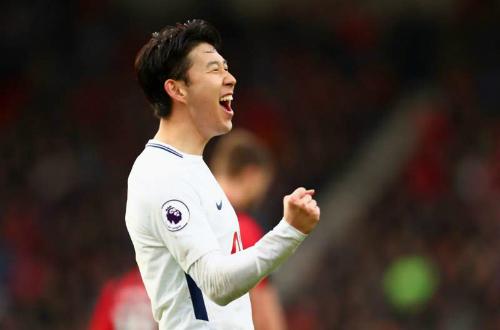 Màn trình diễn của ngôi sao Hàn Quốc giúp Tottenham có chiến thắng quan trọng. Ảnh:AFP.