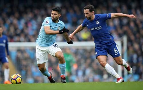 Aguero lần gần nhất là ở trận gặp Chelsea hôm 4/3. Ảnh: Reuters.