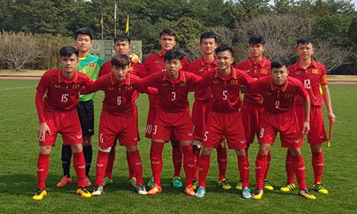 Đội hình của U16 Việt Nam trong trận chung kết có nhiều sự thay đổi so với trận thắng Thái Lan. Ảnh: VFF.