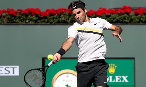 Federer khởi đầu chiến dịch bảo vệ danh hiệu Indian Wells một cách suôn sẻ. Ảnh: BNP.