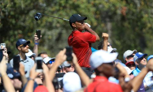 Khán giả tại Valspar Championship được chứng kiến một Tiger Woods hay nhất trong nửa thập kỷ qua. Ảnh: AFP.
