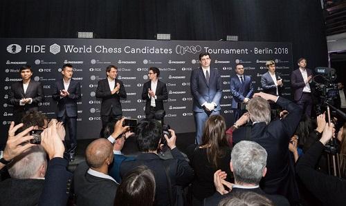 Giải Thách Đấu hội tụ tám cao thủ hàng đầu. Ảnh: Chess.com.