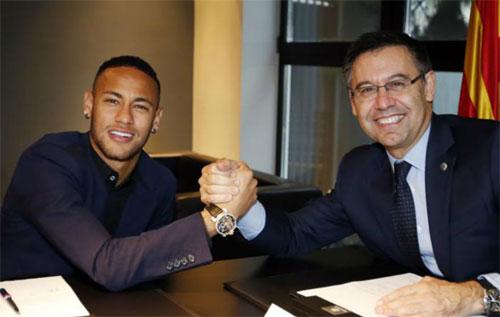 Chưa có gì rõ ràng về việc Neymar sẽ tái hợp Barca. Ảnh: FCB