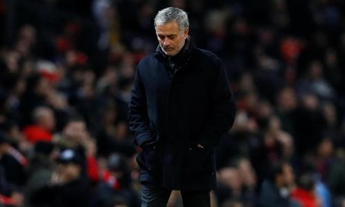 Mourinho chưa thể giúp Man Utd tìm lại vinh quang châu Âu. Ảnh: Reuters.