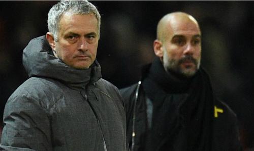 Mourinho và Guardiola là hai chiến lược gia có phong cách đối nghịch nhau. Ảnh:Sky Sports.