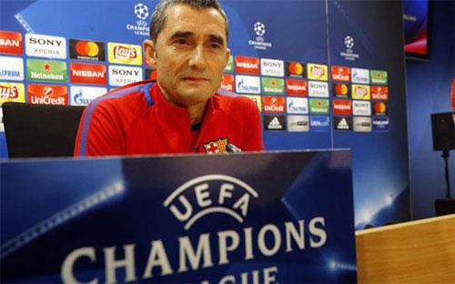 Valverde luôn có sự thận trọng trước nhữngđối thủ lớn. Ảnh: Reuters