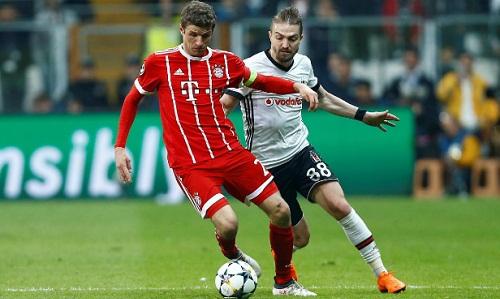 Besiktas không có nhiều cơ hội trước Bayern. Ảnh: Reuters.