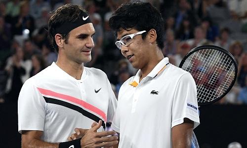 Federer sẽ tái ngộ Chung Hyeon sau lần gặp ở Australia Mở rộng. Ảnh: Reuters.