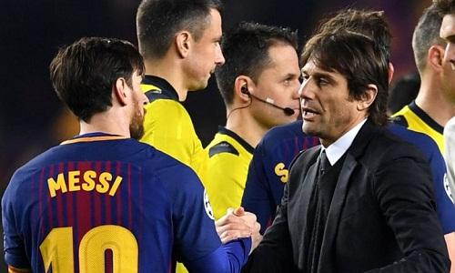 Conte xem việc ca ngợi Messi là điều hiển nhiên. Ảnh: AFP.