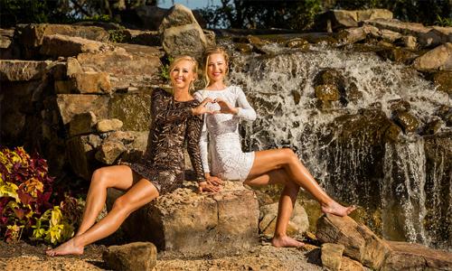Jessica (trái) và em gái Nelly Korda (phải) là hai golfer tài sắc vẹn toàn của làng golf nữ thế giới. Ảnh: Golf.com.