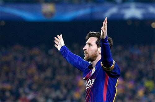 Messi giúp Barca thắng Chelsea với tỷ số 3-0 trong trận lượt về tối 14/3. Ảnh: Reuters
