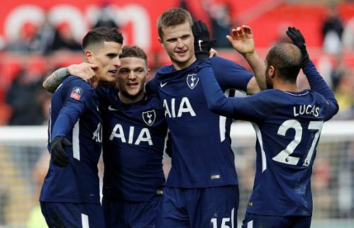 Tottenham khởi đầu tốt trong chuỗi trận vắng Harry Kane cho tới đầu tháng 4/2018. Ảnh:Reuters.
