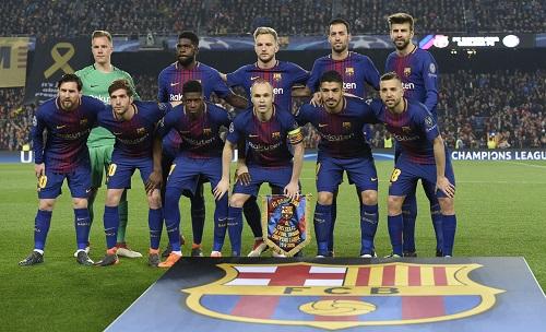 Barca vừa hạ Chelsea 3-0 tại Nou Camp. Ảnh: AFP.