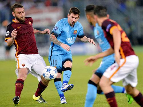Barca từng thắng Roma ở mùa giải 2015-2016. Ảnh: Reuters