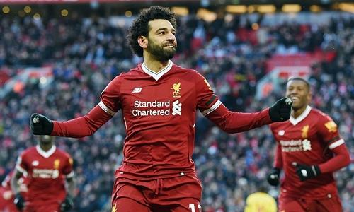 Liverpool từng thắng Man City ở Ngoại hạng Anh mùa 2017-2018. Ảnh: PA.