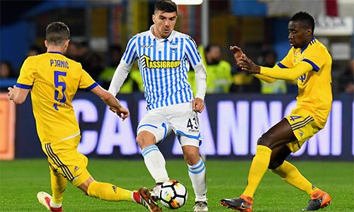 SPAL của Paloschi gây sốc cho cả Serie A khi cầm hoà đại gia Juventus 0-0 trên sân nhà Paolo Mazza hôm 17/3. Ảnh: UEFA.