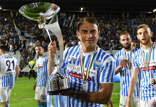 SPAL của HLV Semplici thăng hạng với tư cách nhà vô địch Serie B mùa 2016-2017. Ảnh: La Presse.