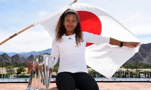 Osaka được xem là phát hiện của Indian Wells 2018. Ảnh: Reuters.