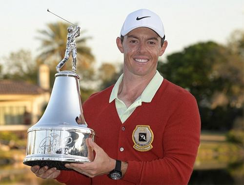 Rory McIlroy trải qua vòng golf không lỗi, ghi tám birdie để lần đầu vô địch Arnold Palmer Invitational. Ảnh: AP.