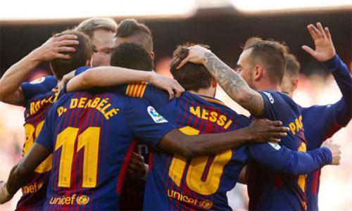 Barca đang tiến gần đến chức vô địch La Liga mùa 2017-2018. Ảnh: Marca