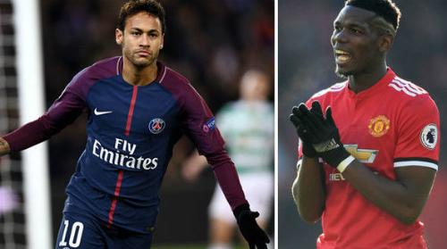 Neymar và Pogba là hai bản hợp đồng bom tấn của bóng đá thế giới. Ảnh:AFP.