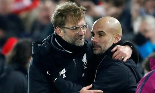 Liverpool sẽ gặp Man City ở tứ kết Champions League. Ảnh: PA.