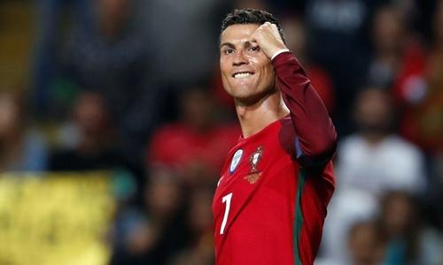Ronaldo hiện có 81 bàn cho Bồ Đào Nha. Ảnh: Reuters.