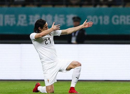 Tài ghi bàn của Cavani là chỗ dựa vững chắc cho tuyển Uruguay. Ảnh: Reuters