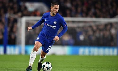 Hazard cam kết tương lai ở Chelsea. Ảnh: PA.