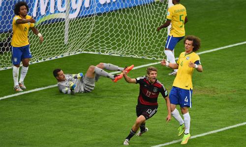 Trận thua 1-7 trước Đức tại bán kết World Cup trên sân nhà là nỗi đau khó quên với Brazil. Ảnh: AFP.