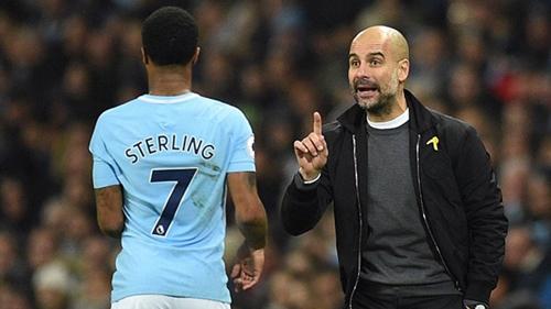 Sterling có sự tiến bộ vượt bậc dưới sự dẫn dắt của Guardiola. Ảnh: Reuters.