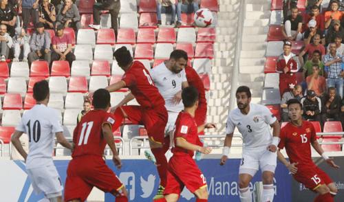 Việt Nam chiến đấu kiên cường khiến Jordan chỉ có được hai trận hoà khi đối đầu tại vòng loại ASIAN Cup 2019.