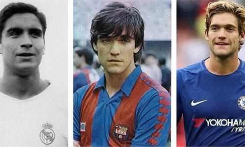Ba thế hệ nhà Marcos Alonso thành danh ở ba CLB khác nhau là Real, Barca và Chelsea.