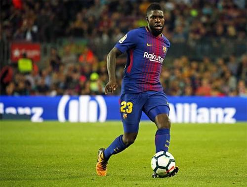 Umtiti là chốt chặn không thể thiếu của Barca. Ảnh: Reuters
