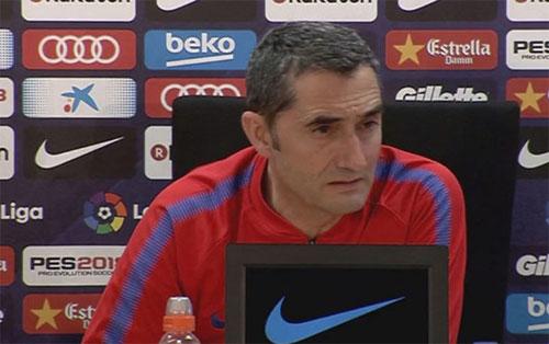 Valverde phải quyết định cho Messi thi đấu tại La Liga hay ưu tiêncho Champions League.