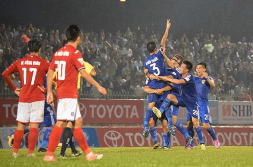 Mùa giải 2017 Quảng Nam thắng 3-1 khi tới làm khách của Quảng Ninh. Ảnh: Ngọc Dung