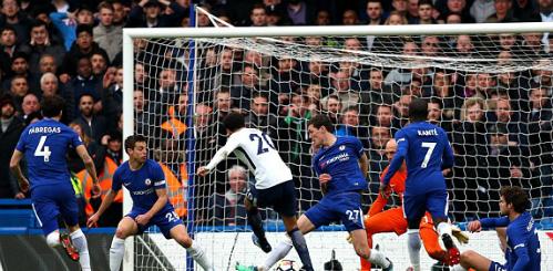 Alli ghi bàn thắng ấn định tỷ số 3-1. Ảnh:AFP.