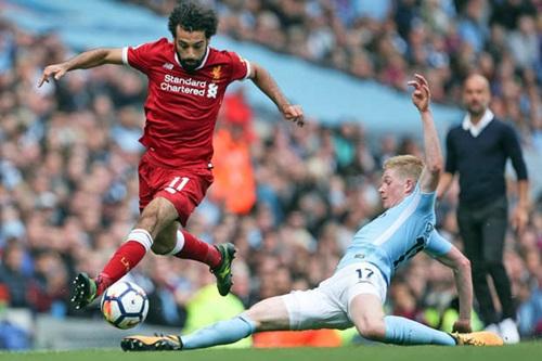 Salah và De Bruyne là hai trụ cột trong đội hình Liverpool và Man City. Ảnh: Reuters.